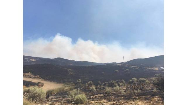 Fire crews battling 1,000 acre fire near Coalinga