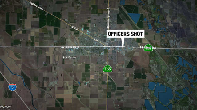 Two Central California police officers shot