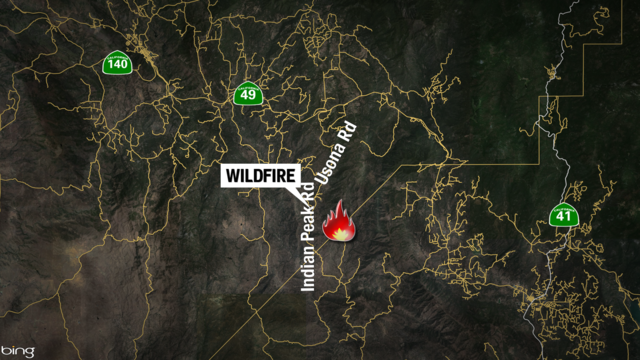 Wildfire in Mariposa County forces evacuations along Cathedral Spires Road