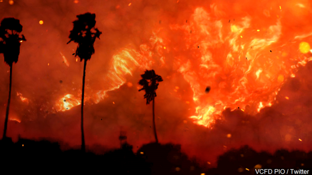 Southern California fire is 'out of control,' forcing thousands to evacuate