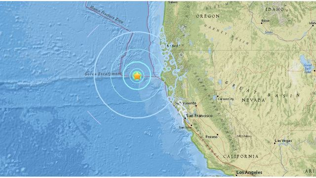Earthquakes Hit of Coast of Northern California: USGS