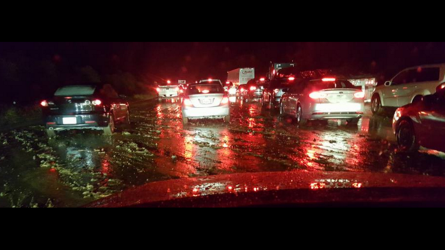 Northbound I-5 Closed near Castaic at Parker Road due to a