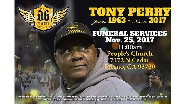 Perry's funeral set forNovember 25th in Fresno