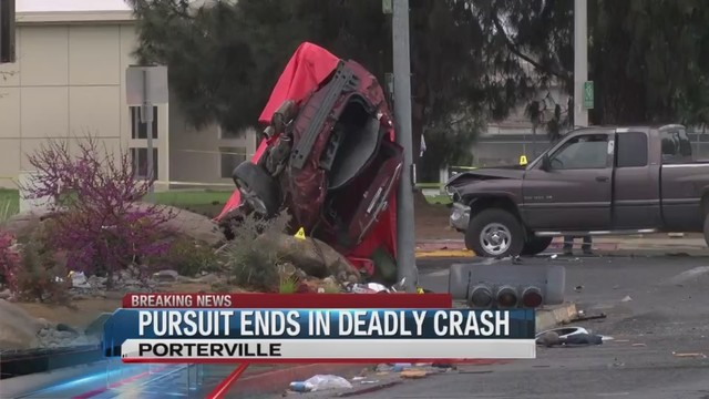 Two killed in Porterville crash following high-speed chase identified