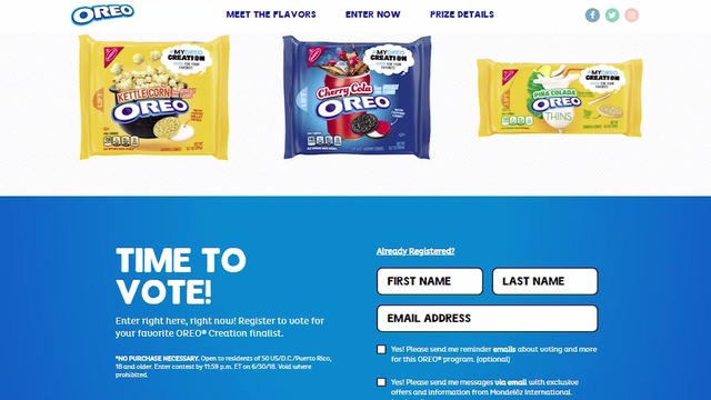 Oreo has 3 new flavors and wants people to vote on which to keep