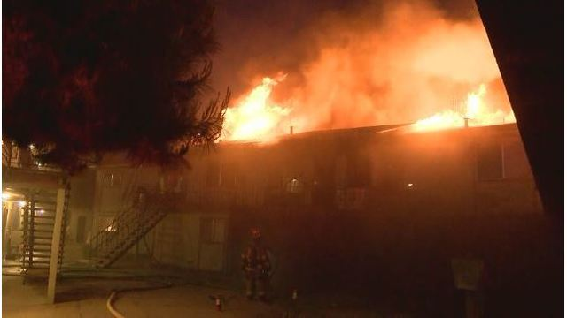 #Breaking: Large Apartment Fire Raging In Southeast Fresno
