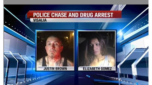 Two Arrested By Visalia Police After Reportedly Throwing Drugs From Vehicle During Chase