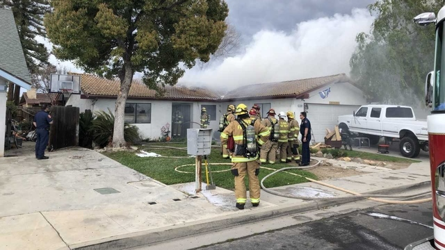 Family's home catches fire in Clovis while they are away, losing two family pets