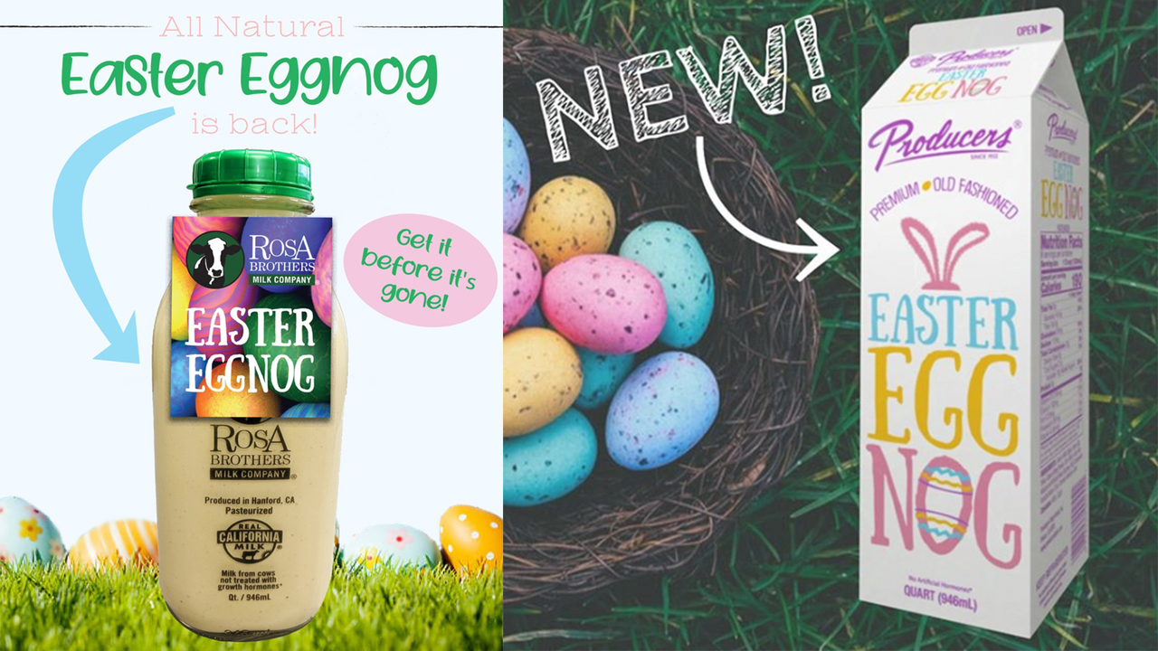 Easter eggnog: Central Valley dairies to sell holiday drink in April